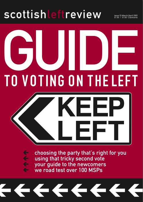 Issue 15: guide to voting on the left