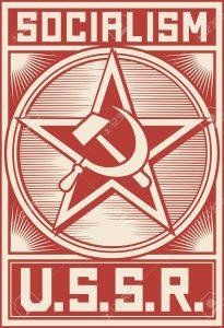 ussr-poster-soviet-poster-socialism-poster-soviet-star--Stock-Vector